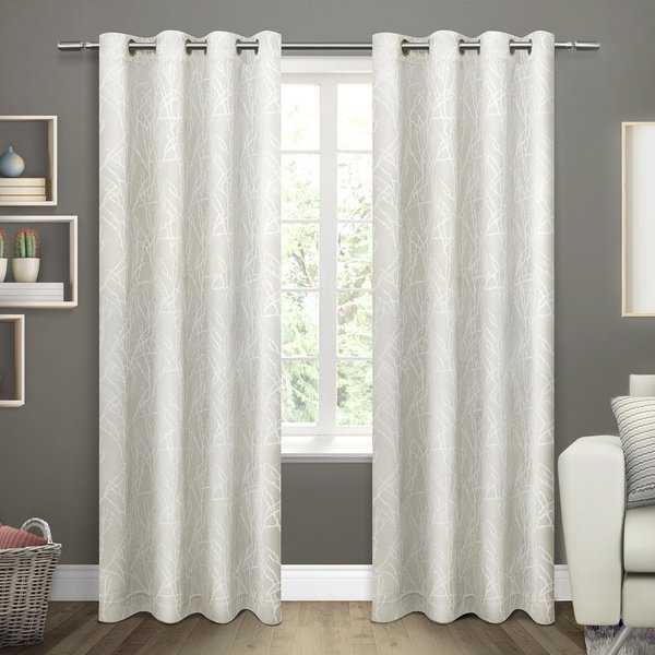 ATI Home Twig Insulated Blackout Curtain Panel Pair with Grommet Top