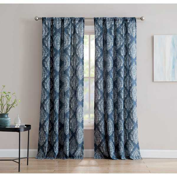 Alma 84-inch Window Curtain with Rod Pocket -Single Panel, Inspired Surroundings by 1888 Mills