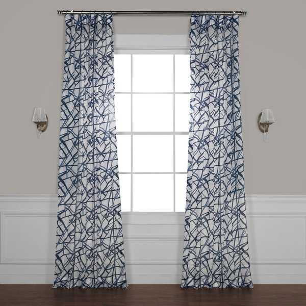 Exclusive Fabrics Matrix Printed Sheer Curtain