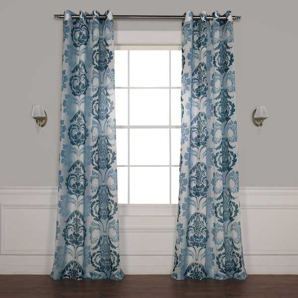 Exclusive Fabrics Damacus Grommet Printed Sheer Curtain