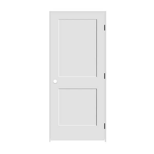 Trimlite 1668138-8402LH1D714 18' by 80' Shaker 2-Panel Left Handed Interior Pre- - Primed - N/A