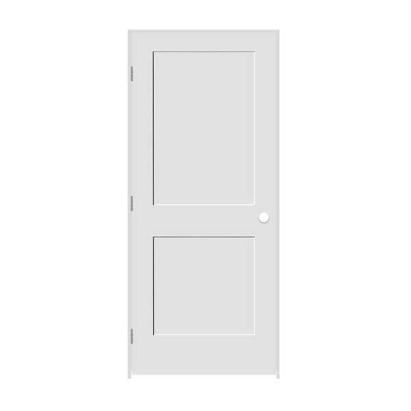 Trimlite 2268138-8402RH26D6916 26' by 80' Shaker 2-Panel Right Handed Interior P - Primed - N/A