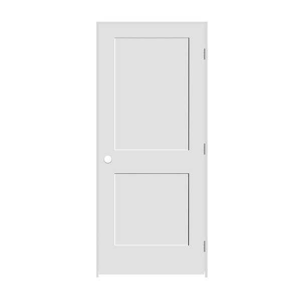 Trimlite 2268138-8402LH26D6916 26' by 80' Shaker 2-Panel Left Handed Interior Pr - Primed - N/A