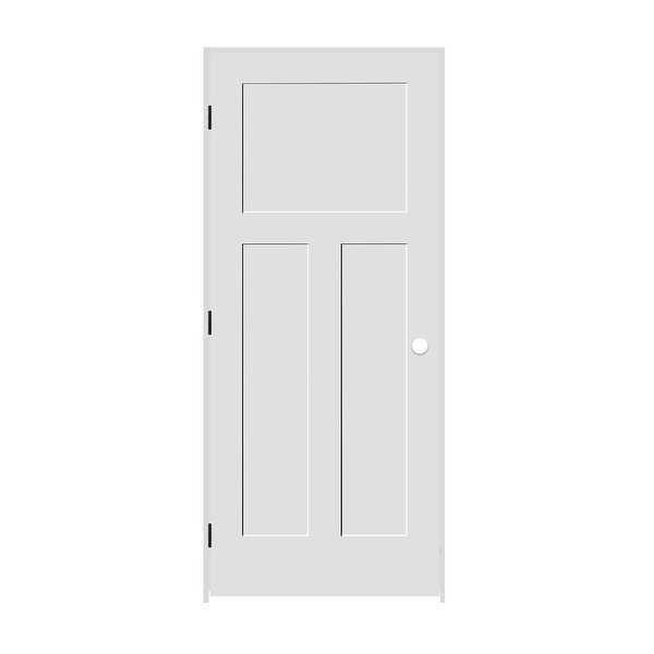 Trimlite 2168138-8403RH1D6916 34' by 80' Shaker 1+2-Panel Right Handed Interior - Primed - N/A