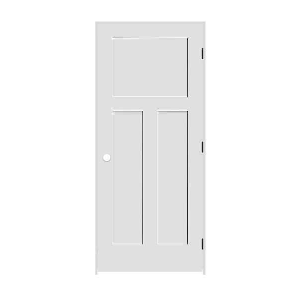 Trimlite 2168138-8403LH1D6916 34' by 80' Shaker 1+2-Panel Left Handed Interior P - Primed - N/A