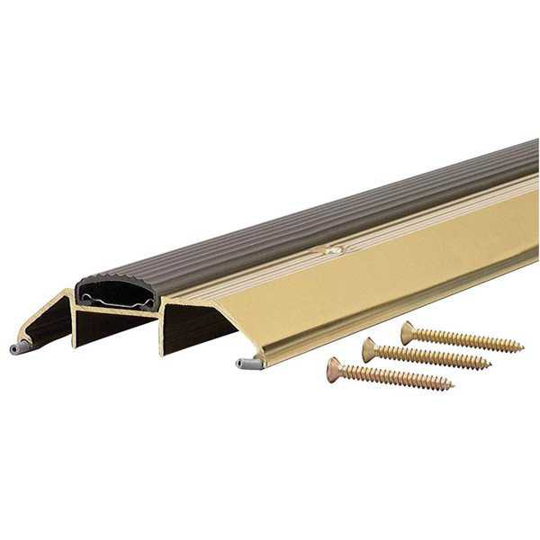 M-D 09365 36' Bright Gold High Boy Thresholds With Vinyl Seal Aluminum
