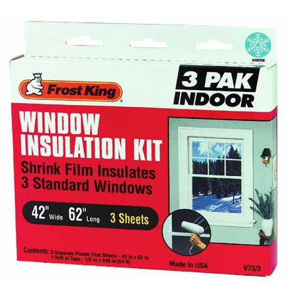 Frost King V73/3H Indoor Window Insulator Kit, 42' x 62'