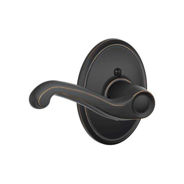 Schlage F170-FLA-WKF-LH Flair Left Handed Single Dummy Door Lever with Decorative Wakefield Trim