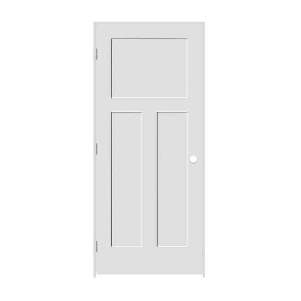 Trimlite 2268138-8403RH154916 26' by 80' Shaker 1+2-Panel Right Handed Interior - Primed - N/A